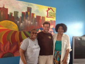With Kim Hunt and Jerry Petersn @ Ruth Ellis Center